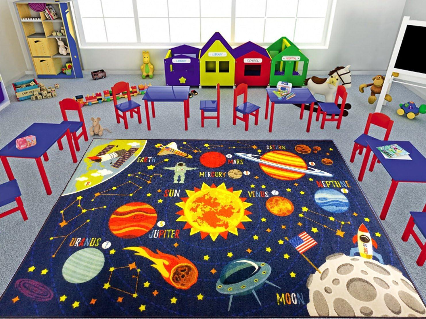 4. Playtime Collection Space Safari Area Rug