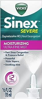Vicks Sinex Severe Moisturizing Ultra Fine Mist Sinus Congestion Nasal Spray with Soothing Aloe, 0.5 fl oz