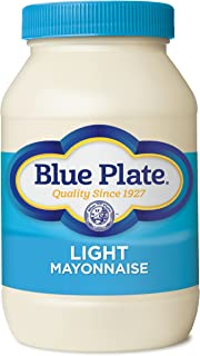Blue Plate Mayonnaise, Light Real, 30 Ounce (Pack of 12)