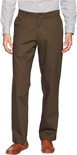 Straight Fit Signature Khaki Lux Cotton Stretch Pants D2 - Creaseless