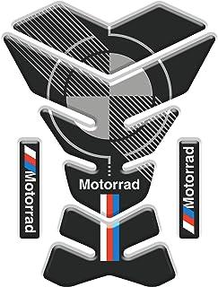 Protection de Reservoir Moto Autocollant en Gel Polymer compatible pour BM.W BM.W F 850 GS ADV Adventure Rally F850 Tankpad Sticker Noir//Orange