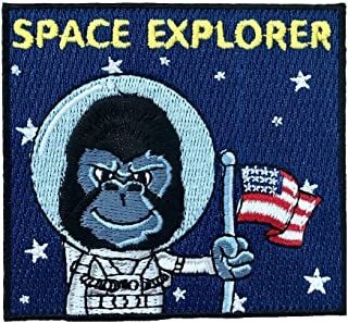 Vinpatch Space Explorer Embroidered Sew On/Iron on Patch - Personalized Travel Patches Designed for Shirts Jackets Jeans and Backpacks - Patch Size 3'' x 3.25''