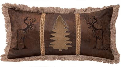 Carstens, Inc Buck and Tree Faux Suede Decorative Pillow, 14 x 26, Multicolor