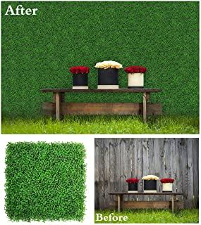ULAND Artificial Hedges Panels, Boxwood Greenery, Privacy Fence Screen, Weddings or Parties Background Walls, Pubs Restaurants Green Plants Wall, Office Home Kindergartens Garden Outdoor Décor