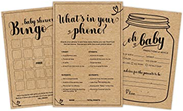3 Kraft Baby Shower Games and Advice Cards