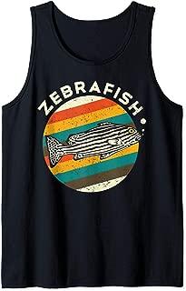 Cool Retro Zebra Fish Silhouette Gift Design Idea Tank Top