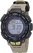 """ساعة رياضية للرجال من """"كاسيو"""" موديل """"كوارتز""""، لون كاكي، 27 موديل PRG-240-5CR)"""