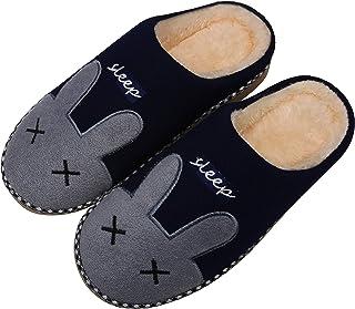 Mishansha Winter Slippers Women Plush Shoes Men Warm Lining Indoor Slippers