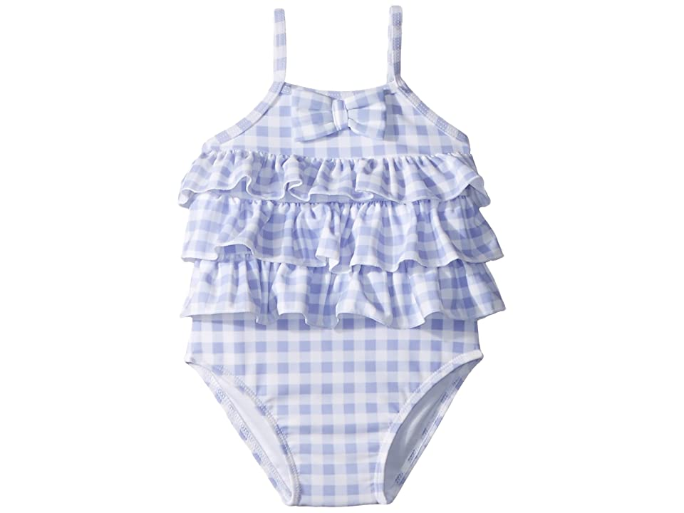 f3ec0548ef Janie and Jack Ruffle One-Piece Swimsuit (Infant) (Periwinkle Gingham)  Girl s Swimsuits One Piece