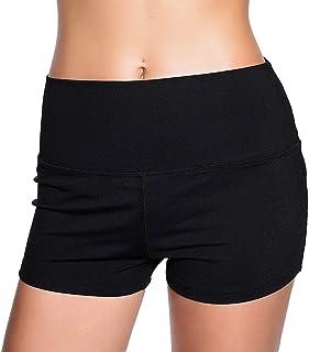 RIKKI Women's High Waist Thigh Slimming Bike Fitness Running Shorts
