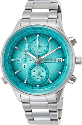 [ワイアード]WIRED 腕時計 WIRED クロノグラフ 新橋色文字盤 10気圧防水 AGAW451 メンズ