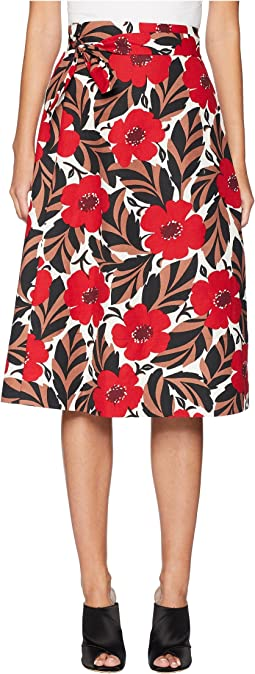 Poppy Field Wrap Skirt