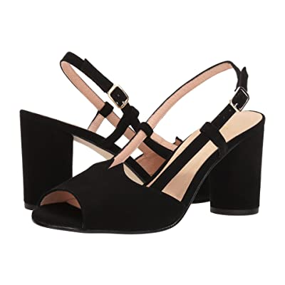 French Sole Berry (Black Suede) Women