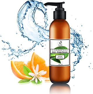 BaeBlu Organic Gentle Moisturizing Face Wash - pH Balanced Sulfate Free Facial Cleanser with Aloe for Dry, Oily, Damaged, ...