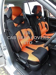 Desconocido R – Adecuado para Ford Kuga Coche, Fundas de Asiento, BO-1 Malla Naranja RECARO