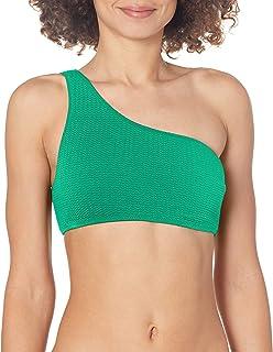SEAFOLLY Women's Active One Shoulder Bandeau Bikini Top Swimsuit, Sea Dive Jade, 10