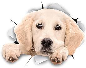 Winston & Bear 3D犬ステッカー - 2パック - 壁のためにチラッと覗くラブラドールレトリバーステッカー、冷蔵庫、トイレ、その他のラブラドールステッカー