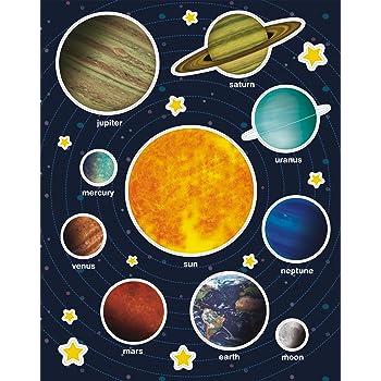 TownStix Espacio Sistema Solar Niños Pegatinas - 10 diseños, 20 ...