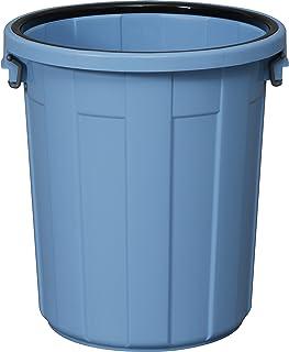 アイリスオーヤマ ゴミ箱 (本体のみ・フタ別売り) 丸型 ブルー 90L 直径55.6×高さ59.7cm PM-90