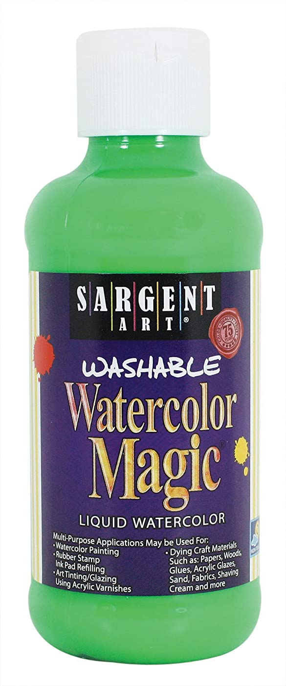 Sargent Art 22-7066 8-Ounce Watercolor Magic, Fluorescent Green