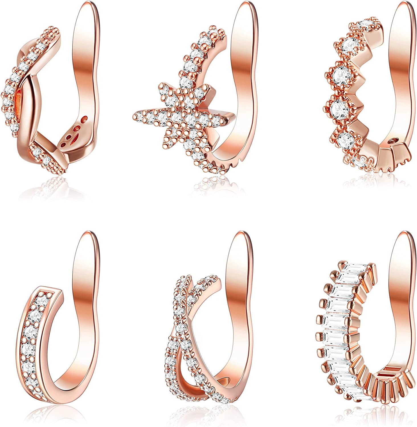 XCOIN 6 pcs Mesa Mall Ear Cuff Set Dainty Cartilage Helix Sp Earrings Price reduction