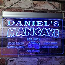 ADVPRO x0012-tm-b Man Cave Bar Custom Personalized Your Name Established Date LED Neon Sign Blue 24x16 inches