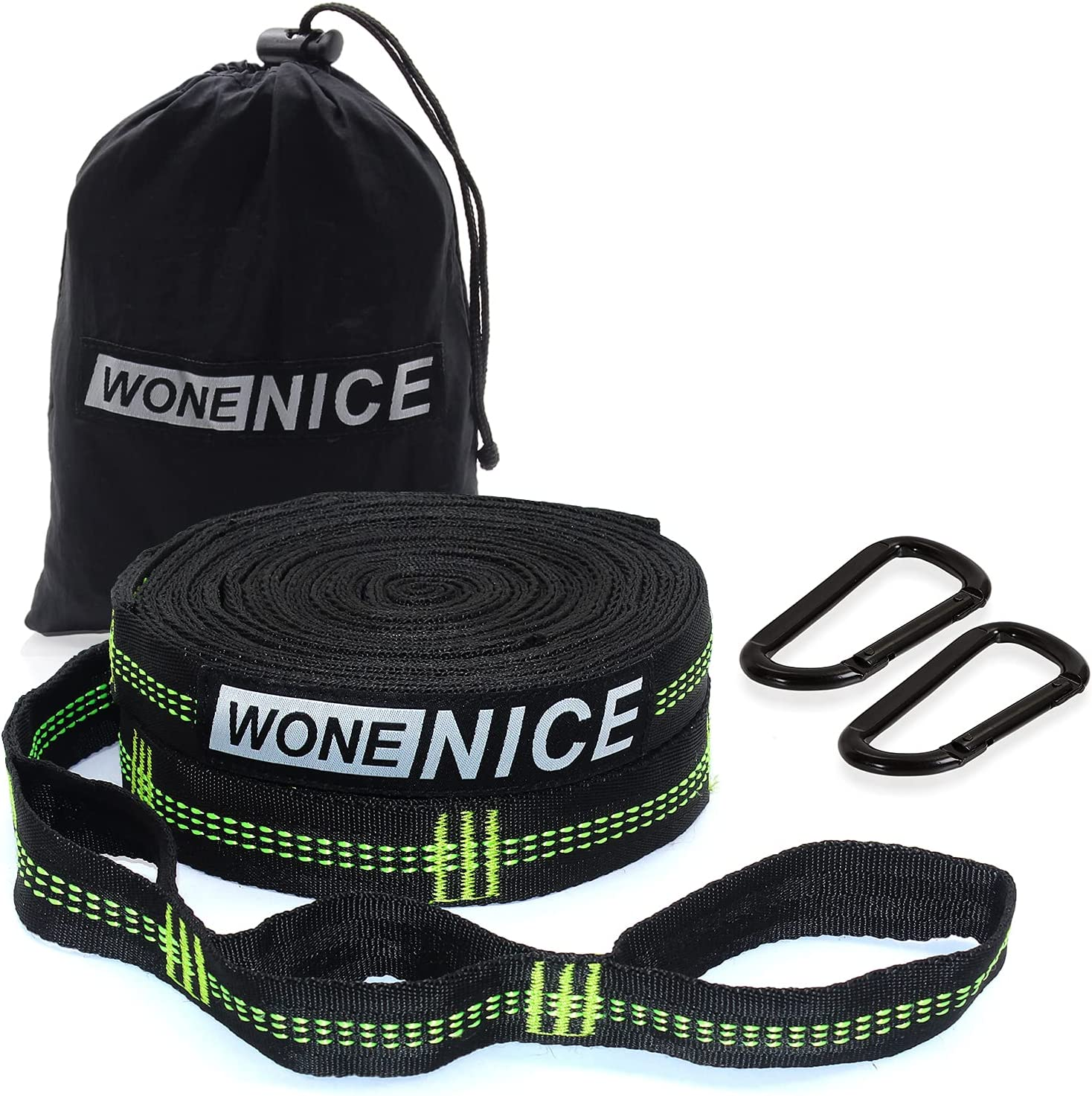 Max 65% OFF Hammock Fashionable Straps with 2 Carabiners Tree WoneNice Hammo for