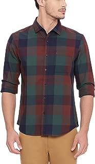 BASICS Slim Fit Alpine Green Checks Shirt