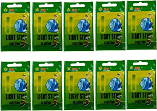 50 beutel 37mm Float Glow Stick Nachtfischen Gr/ün Fluoreszierendes Licht Angeln Leuchtst/äbe 150 st/ücke Angeln Leuchtst/äbe 4,5