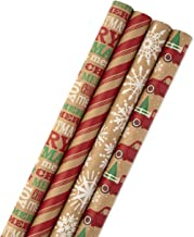 Hallmark Christmas Wrapping Paper Bundle with Cut Lines...