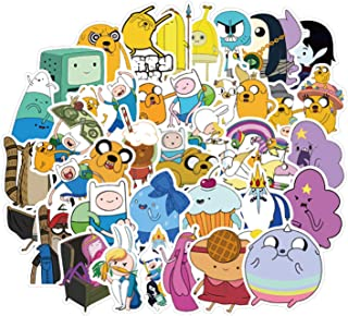 50pcs Adventure Time with Finn and Jake Cartoon Stickers for Laptop Stickers Motorcycle Bicycle Skateboard Luggage Decal Graffiti Patches Waterproof Stickers for [No-Duplicate Sticker Pack]