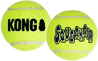 KONG - Squeakair Balls - Dog Toy Premium Squeak Tennis Balls, Gentle on Teethls - For X-Small Dogs (3 Pack)