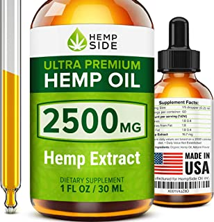 Hemp Oil Drops for Stress & Anxiety Relief - Tested and Verified Hemp Oil - Ultimate Hemp Power - Grown & Made in USA - Anti Inflammatory Formulation - Joint Support - Omega 3, 6 & 9