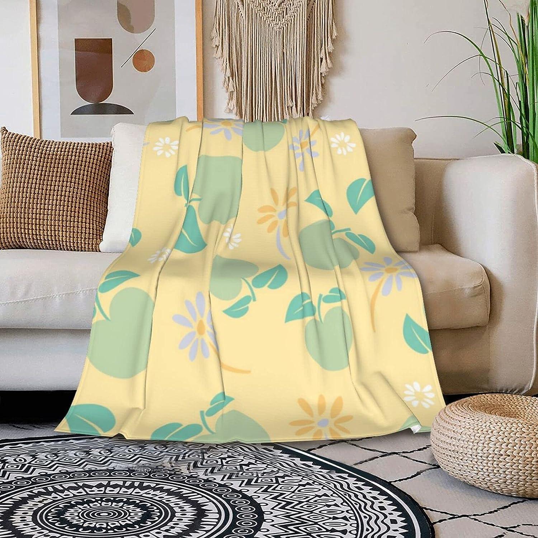 NEW Fruit Flower Jigsaw Breathable Blanket F Ranking TOP5 All-Season Twin Comfort