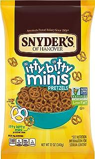 Snyder's of Hanover Pretzels, Itty Bitty Mini Pretzels, 12 Ounce