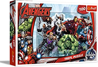 Trefl - 16272 - Puzzle - Disney Marvel - Avengers Intiative - 100 Pièces