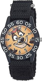 Disney WDS000873 - Reloj analógico de cuarzo con correa de nailon, color negro
