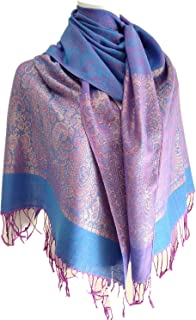 Women's Pashmina Tassels Blanket Scarf Floral Soft Wool Warmly Winter Girl's Shawl Free Style Colorful Paisley