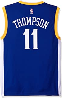 NBA Men's Golden State Warriors Klay Thompson Replica Player Stretch Jersey, Medium, Blue