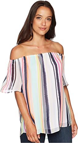 Off Shoulder Swing Sleeve Top