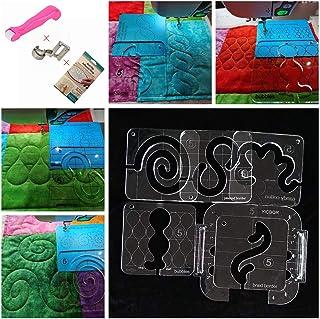 HONEYSEW Kit de patchwork para réguas de acolchoamento, modelo de embriodery de movimento livre para a maioria das máquina...