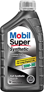 Mobil Super 112917 10W-30 Synthetic Motor Oil - 1 Quart (Pack of 6)