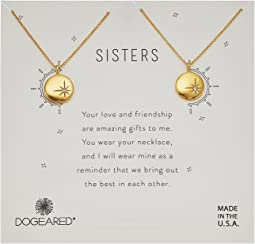 Sisters, Small Star Disc with Crystal, Set of 2 Necklaces