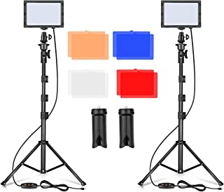 Emart LED Video Light 11 Brightness/4 Color Filters Dimmable Photography Continuous Table Top Lighting, Adjustable Tripod ...