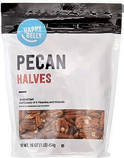 Amazon Brand - Happy Belly Pecan Halves, 16 Ounce