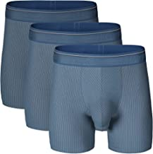 Separatec Men's 3 Pack Fast Dry Lightweight Striped Pouches Boxer Briefs