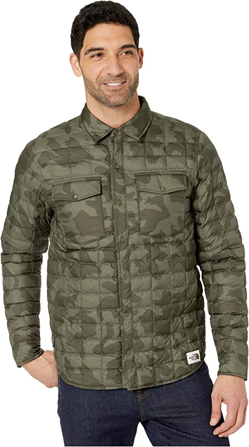 New Taupe Green Oversized Camo Print