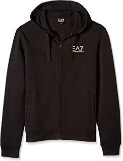Emporio Armani Men's Train Logo Series Full Zip Hoodie