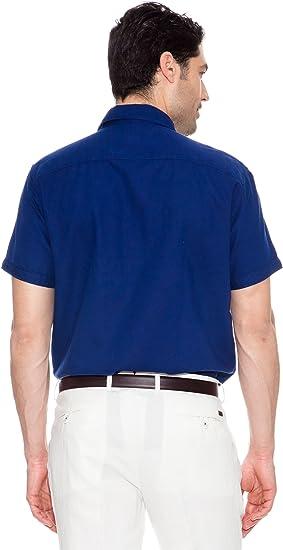 Pedro del Hierro Camisa Logo Grande Azul M: Amazon.es: Ropa