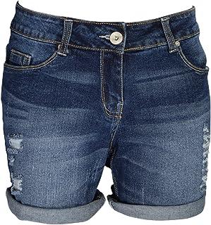 NEXT Mid Rise Denim  BLUE Slouchy Boy Fit Women/'s Shorts 8-22